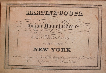 Martin & Coupa label, c. 1840-1850