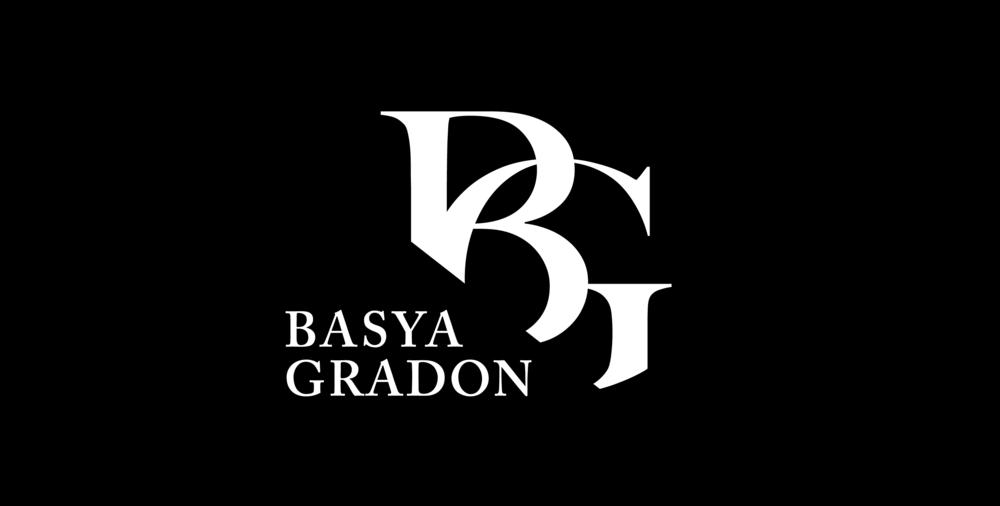 Basya Gradon Final Logo_Logo White on Black.png