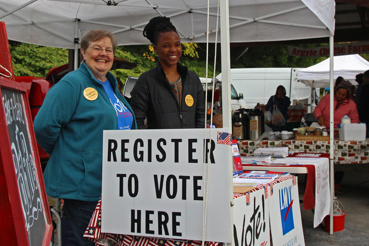 Engage Voters - Voting is the core of our democracy. We work all year to empower people to participate in our political system. We register voters, hold candidate forums, and provide resources to inform voters, including voter guides with candidate bios and Q&A on the issues.