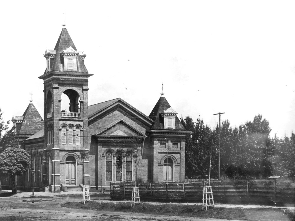 Growth & Expansion - In 1887, land was purchased at the corner of Jackson and Dawson Streets for the purpose of erecting a church. The first service was held in the new sanctuary in 1889.—The Educational Annex was added in 1926 and the first Fellowship Hall in 1946. One hundred years after the sanctuary was built, the present Fellowship Hall was dedicated.