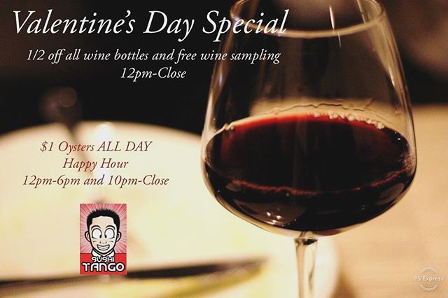 Come join us on Valentine's Day as we will be sharing great deals for you and your loved ones 💕 Give us a call at 612-822-7787 to make your reservations special ☺️🌹❤️