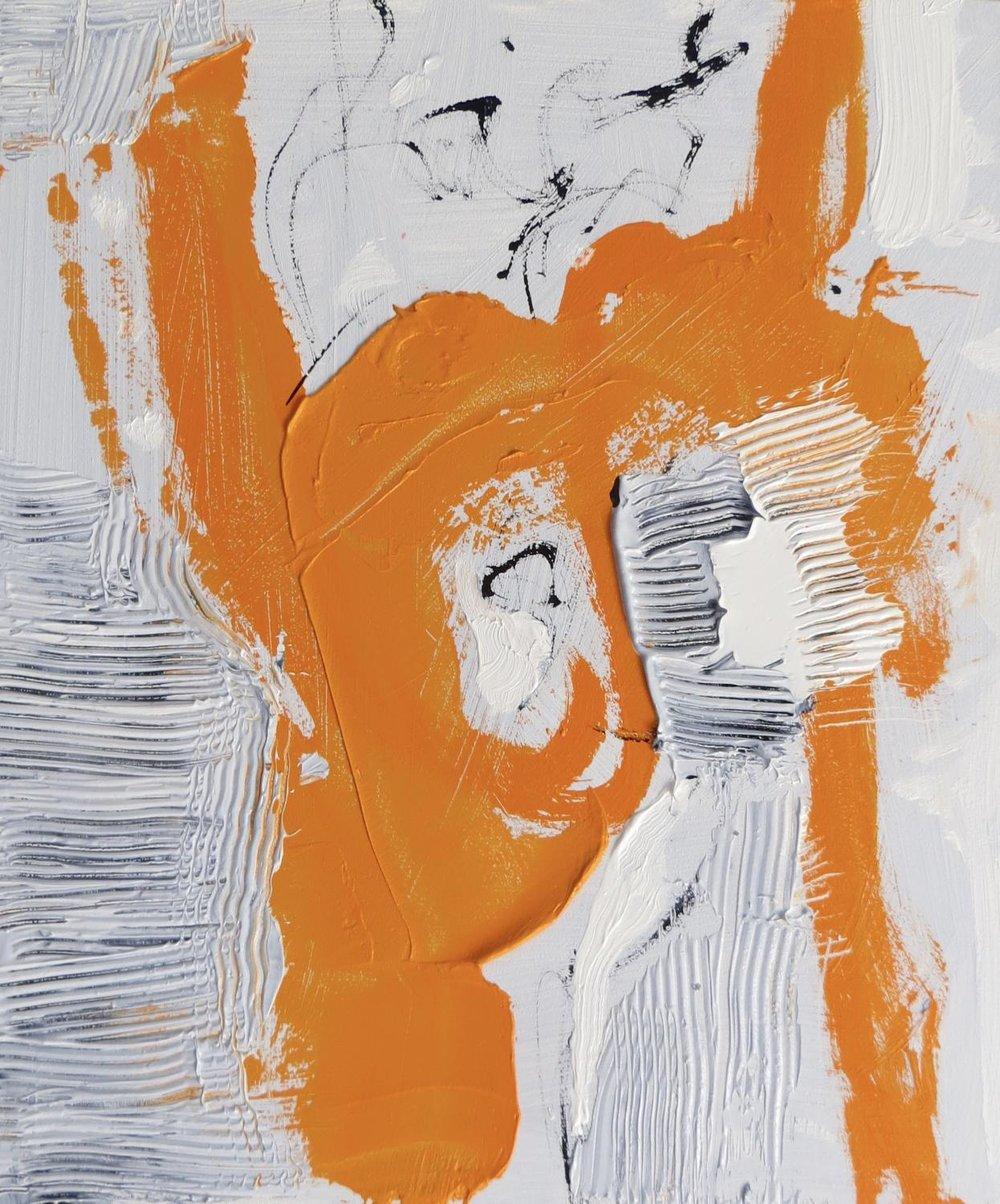 Woman In Orange Dress