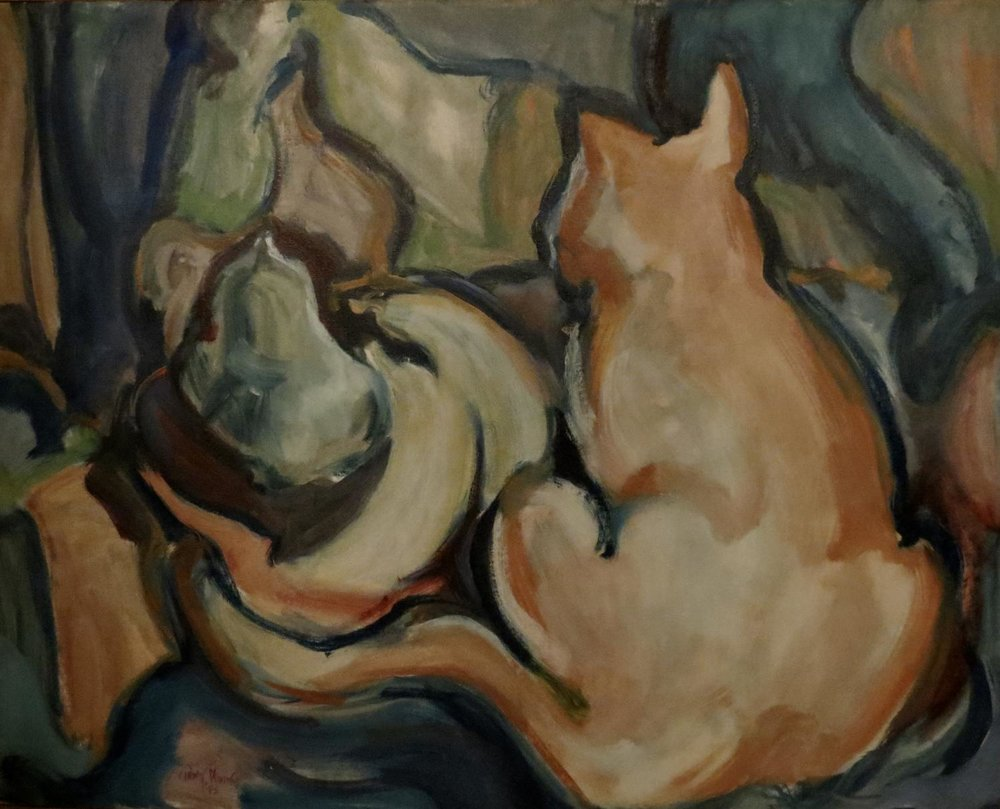 """Still life With Cat"" 1973"