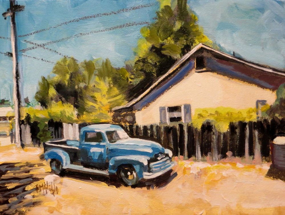 """The Blue Pickup"" 2017"
