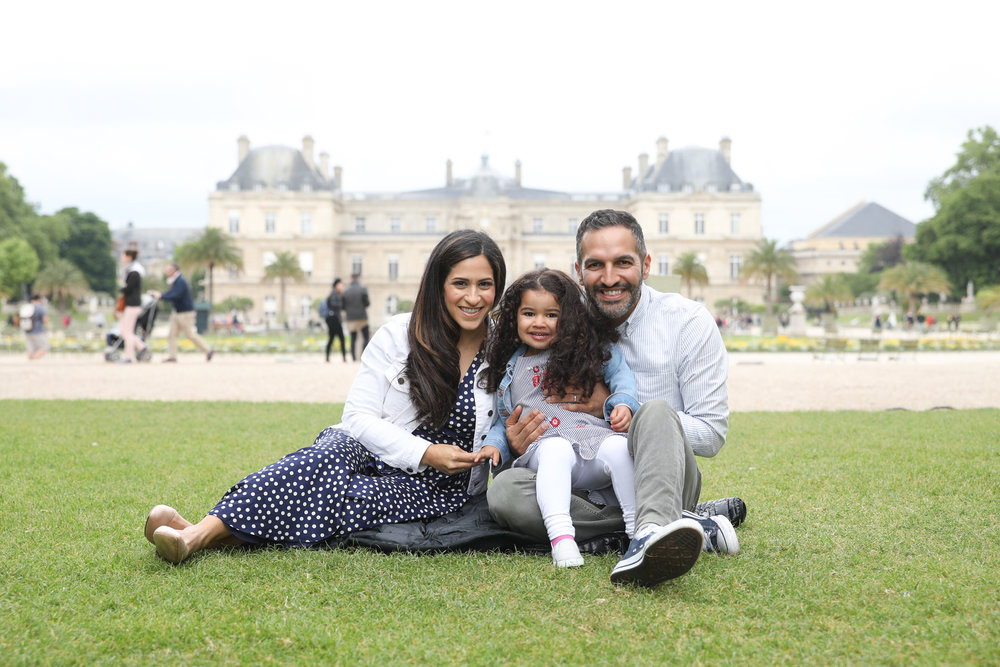 The Levi family in the Luxembourg Gardens in Paris. They hired a photographer—for a great price—through  Airbnb's Experiences  programming.