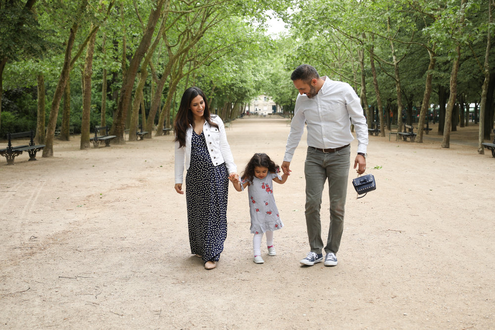 Strolling through the Luxembourg Gardens in Paris.