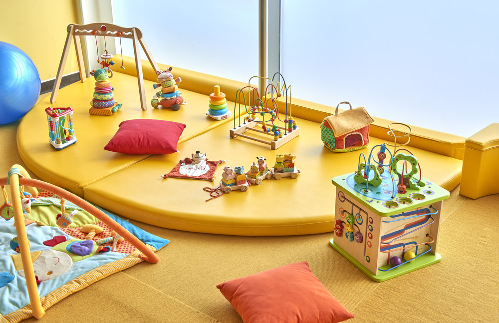 Baby Paradise:  The baby room (6-18 months) at Martinhal Cascais in Portugal, which has full time caretakers from 9:30 to 5:30 daily.
