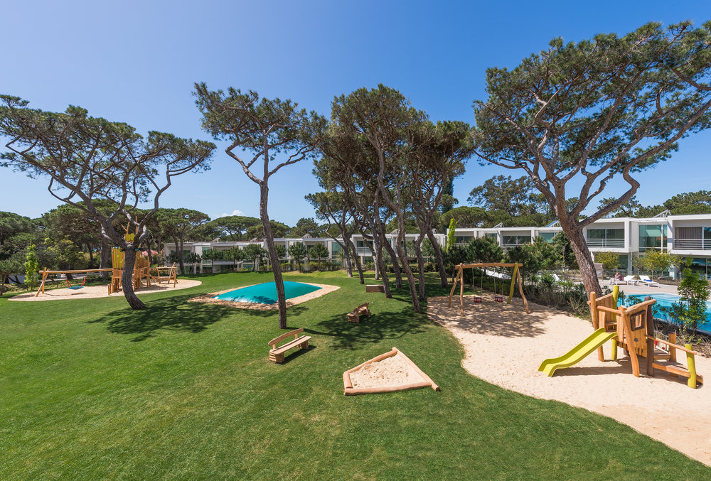 Playgrounds with Punch:  High design grounds that keep kids in mind are a specialty at  Martinhal Resorts  in Portugal.