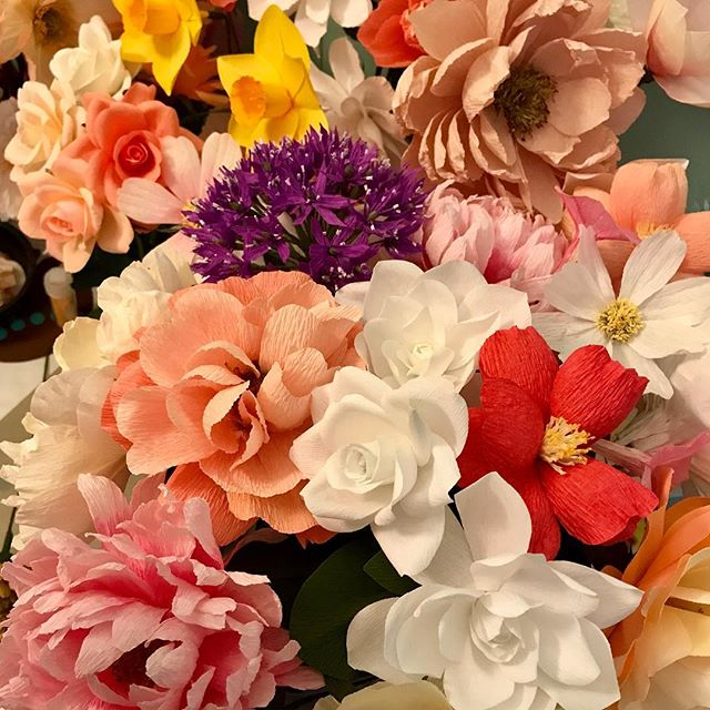 Running out of room. 😳 #obsessed  #paperflowers #creativedharma