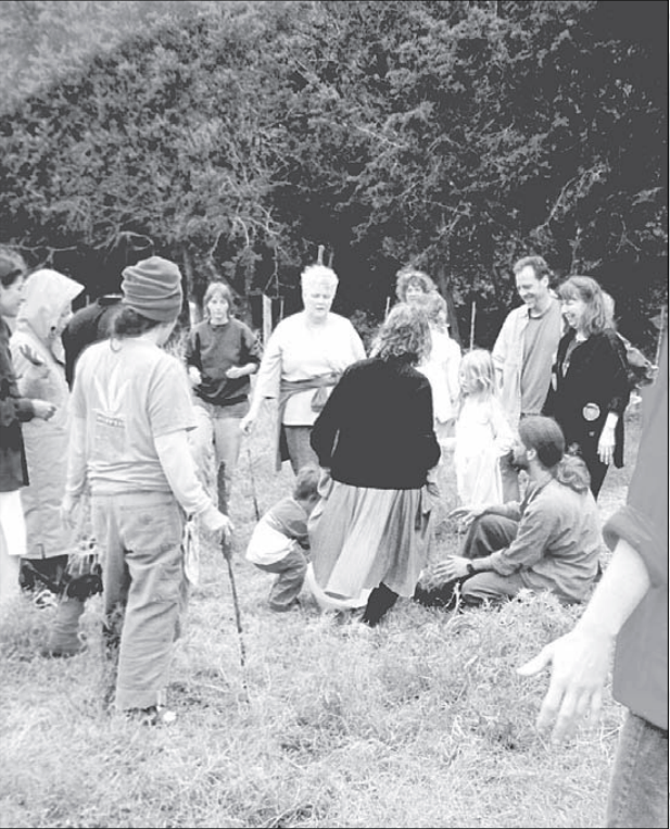 Photo from the first Dandelion Gathering in 2004. Thanks to Reclaiming Quarterly for permission to use photo.