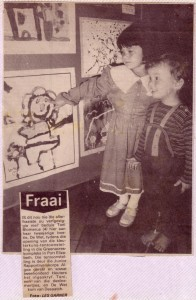 Mrs. Blomerus' own children were raised with appreciation for art. Pictured here visiting exhibitions as young children.