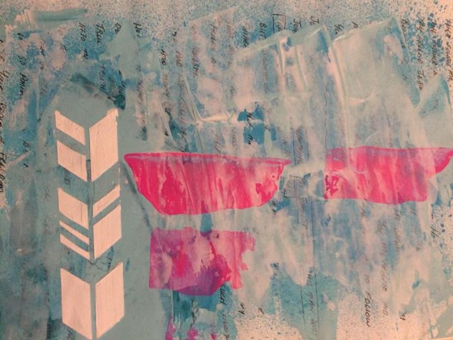 Pop of color  #lighthouseartschool #lighthousejournals #artjournals #artclasses #MAart #lowellartschool #creativity #outsidethebox #color #lovetopaint #abstractart