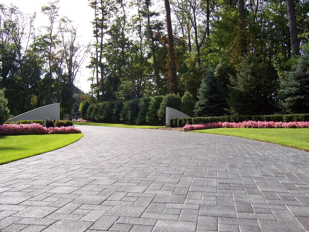 Driveway pavers maintenance by landscapers near me in Canton MI