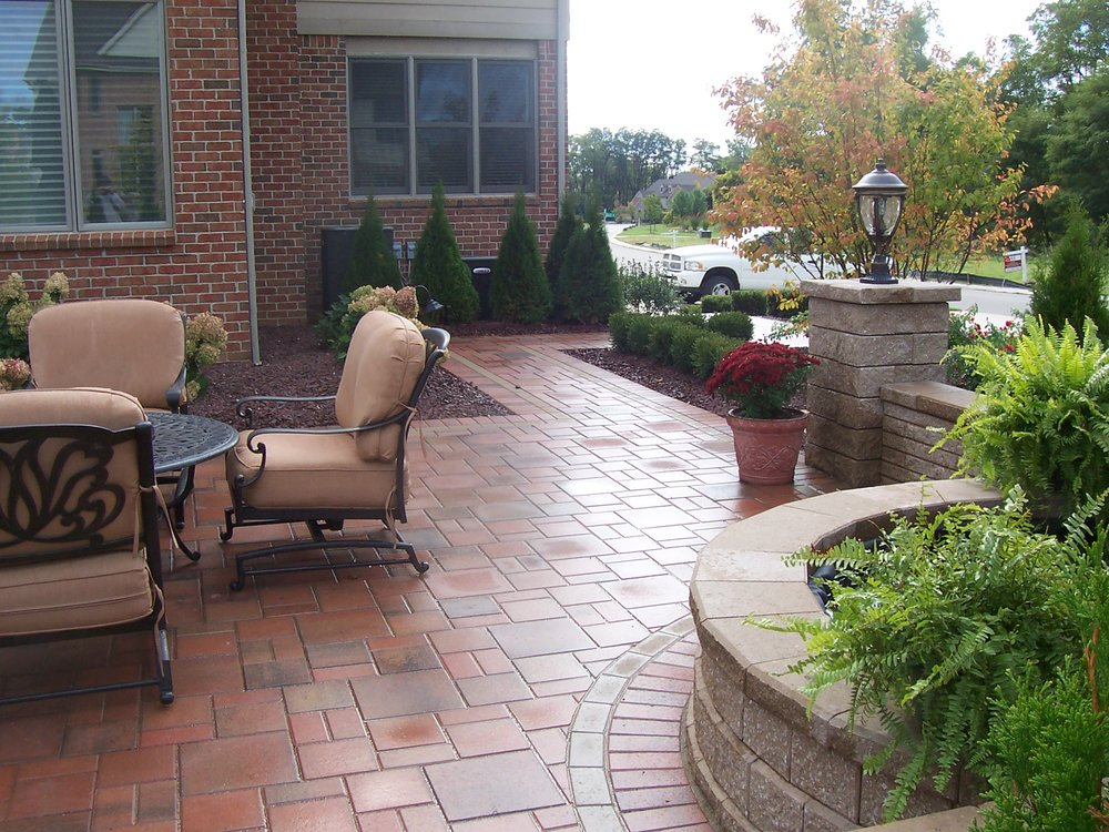 Patio pavers and outdoor fireplace in Troy MI