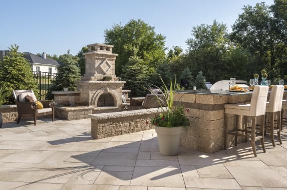 6 Outdoor Fireplace Design Ideas in Troy, MI | Landscape ...