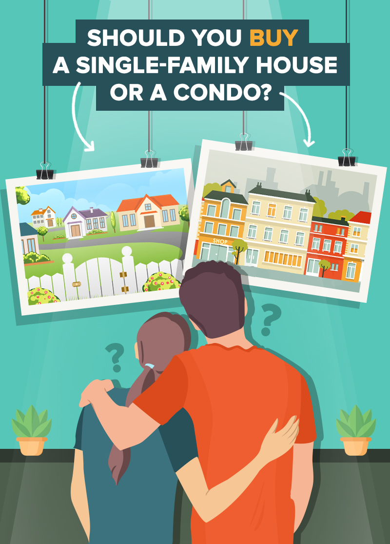 The Great Divide: Should You Buy A Single-Family House Or A Condo?