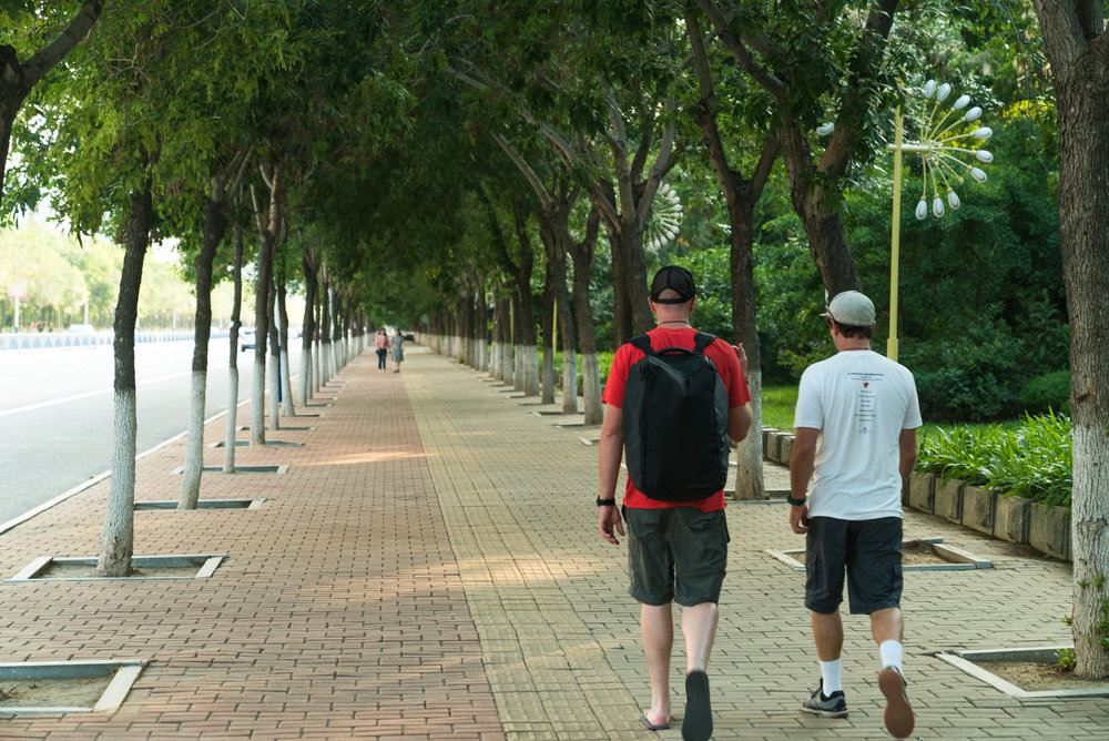 Tanner and Garret Walk Together to Our Park