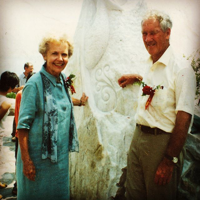 #TBT James and Anne Hubbell at the 1st Yantai Park Celebration. The first park exists now only in the  #memory of those who enjoyed and experienced it over the years. #Rebuilding NOW in #Yantai #yantailife Thanks @YantaiUniversity and @YantaiForiegnAffairsOffice for supporting the effort and welcoming students of #architecture from all over the #Pacific region. Follow @pacificrimpark and https://www.timeandtide.space for all the latest.