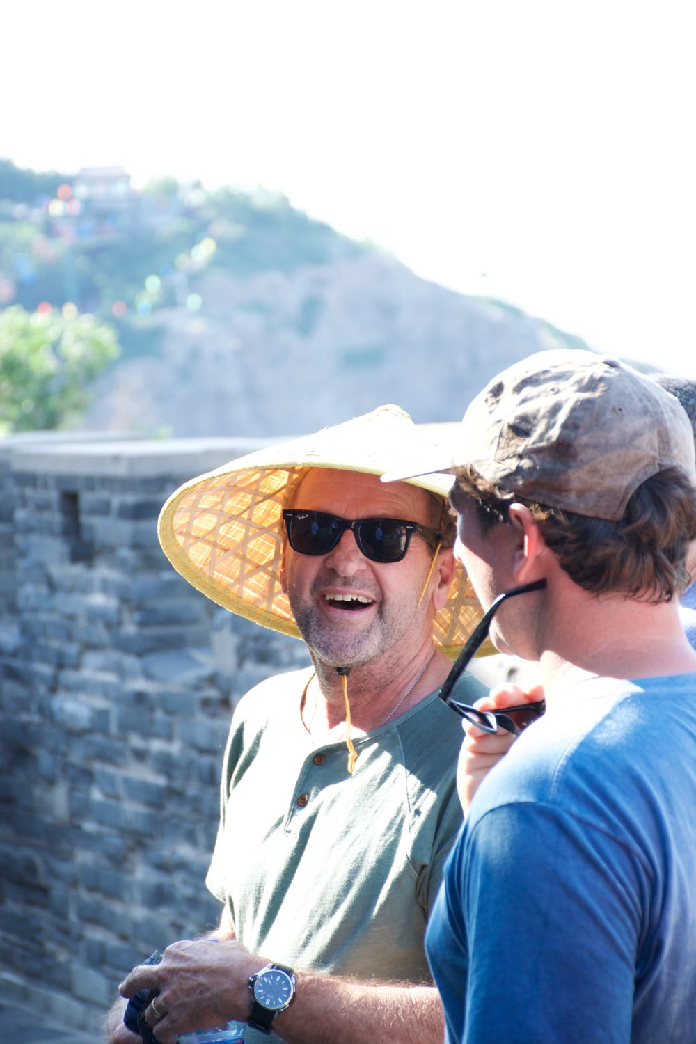 Chuck and Garret Enjoy the Sea Views at Penglai