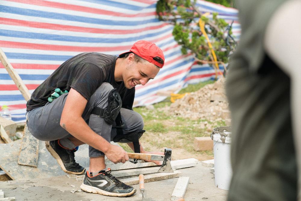Vlad Tiling Away!