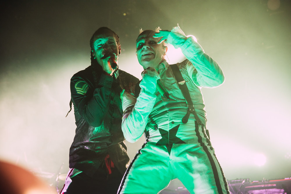 Maxim and Keith Flint of The Prodigy, live at Arena Birmingham