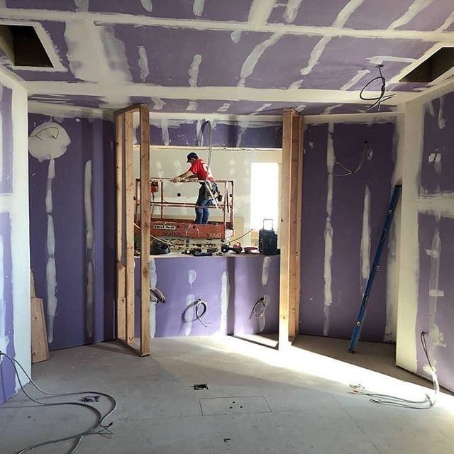 Hard at work on construction for control room and live room A! #music #motown #recordingstudio