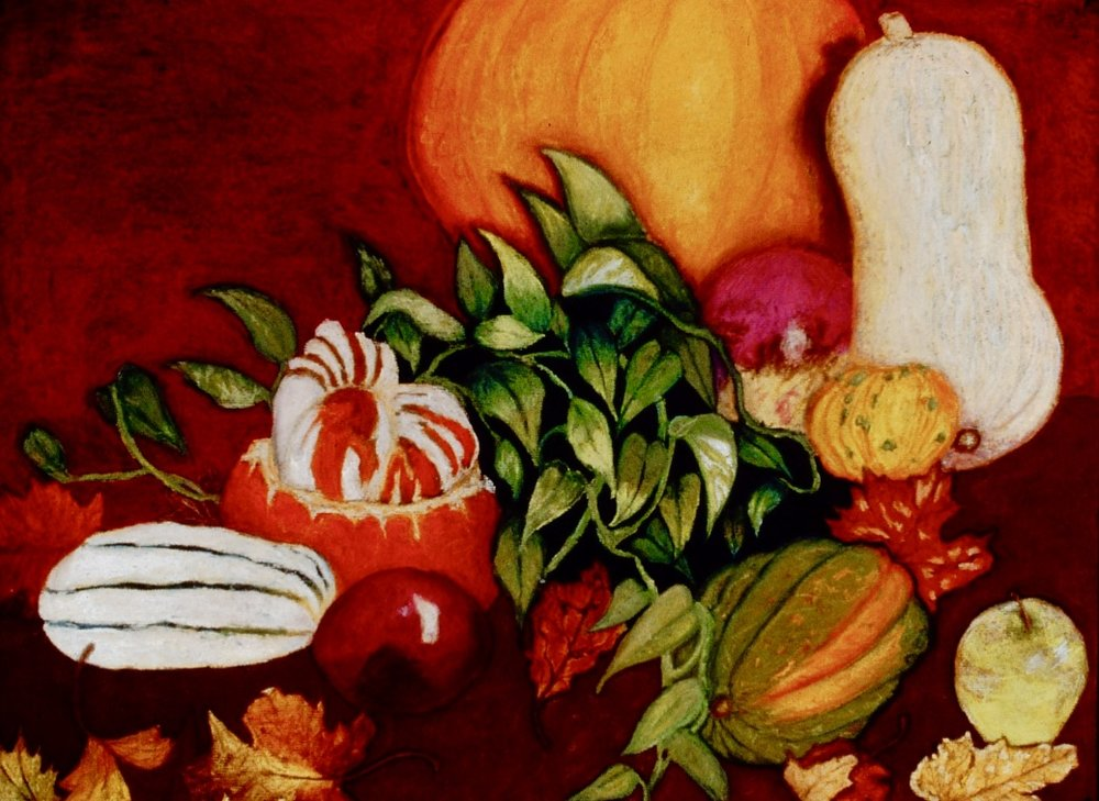 Autumn Table | Chalk Pastel | 1995