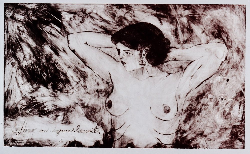 Nemo me Impune Lacessit | Monoprint | 1997