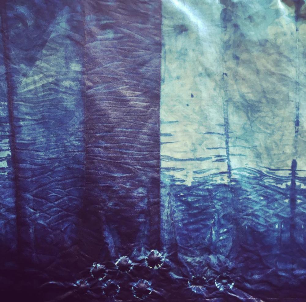Shibori Dye on Linen