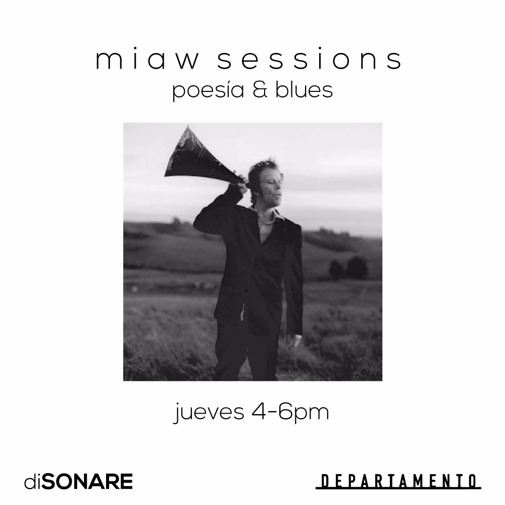 Miaw Sessions is a radio-tv program curated by  diSONARE  broadcasted every Thursday 4-6pm from  Departamento . We stream music, sounds, poetry, and invite a special guest every now and then to curate their own program.