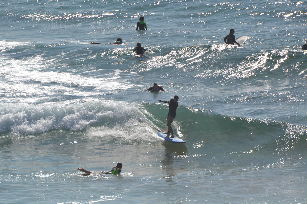 Surfing in a crowd can be a good thing! Look how many indicators you have of where and where not to sit!