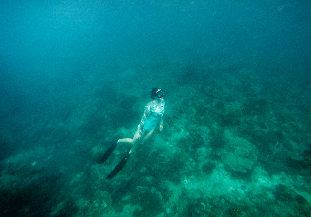 Learning a new skill like surfing, holding your breath or freediving can be met with some serious negative mental resistance.