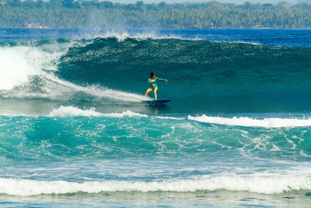 Bagas is such a fun, easy left, even at double overhead.