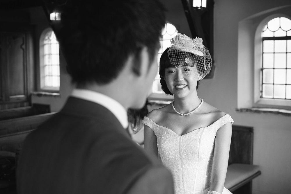 Lake Tekapo Wedding, Candice & Jenghis exchanging wedding vows.