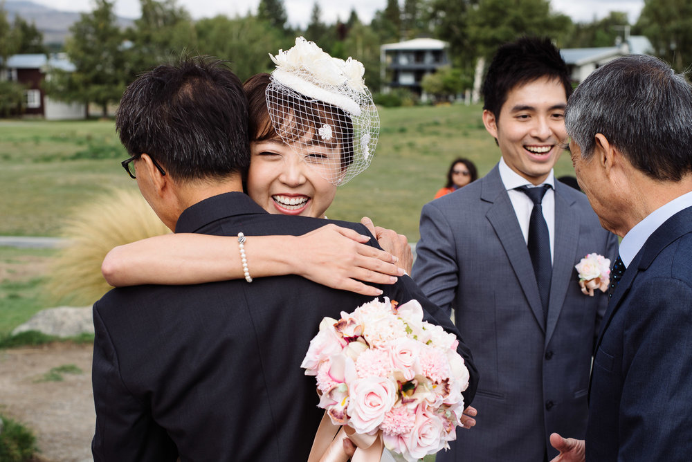 Lake Tekapo Wedding, Candice & Jenghis happily married.