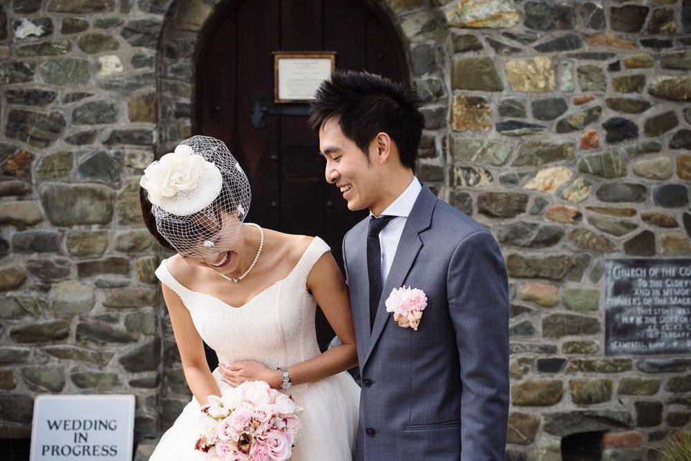 Lake Tekapo Wedding, Candice & Jenghis just married.