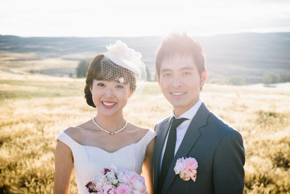Lake Tekapo Wedding, Candice & Jenghis portrait.