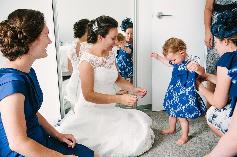 Jodie getting ready on her wedding day