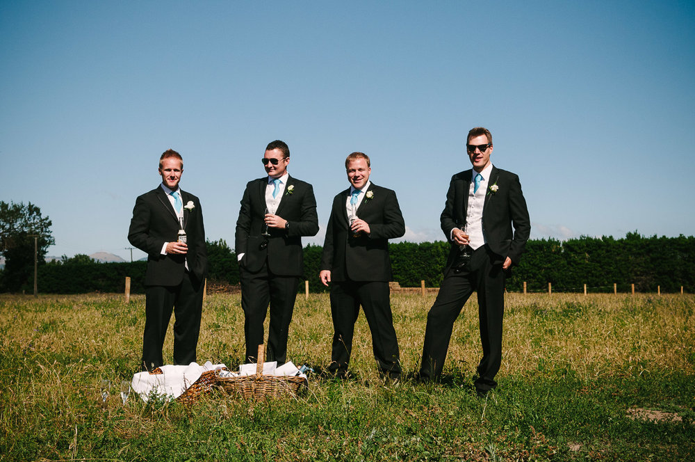 Trent's Estate Vineyard Wedding, Chris and his groomsmen.