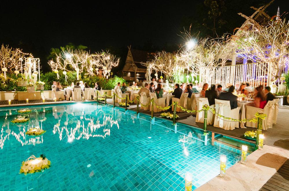 Four Seasons Resort Chiang Mai Wedding, wedding reception.