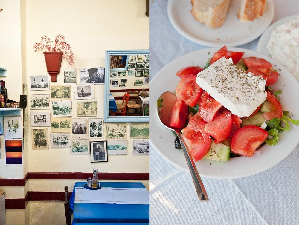 Greek salad, a classic dish of Greece.