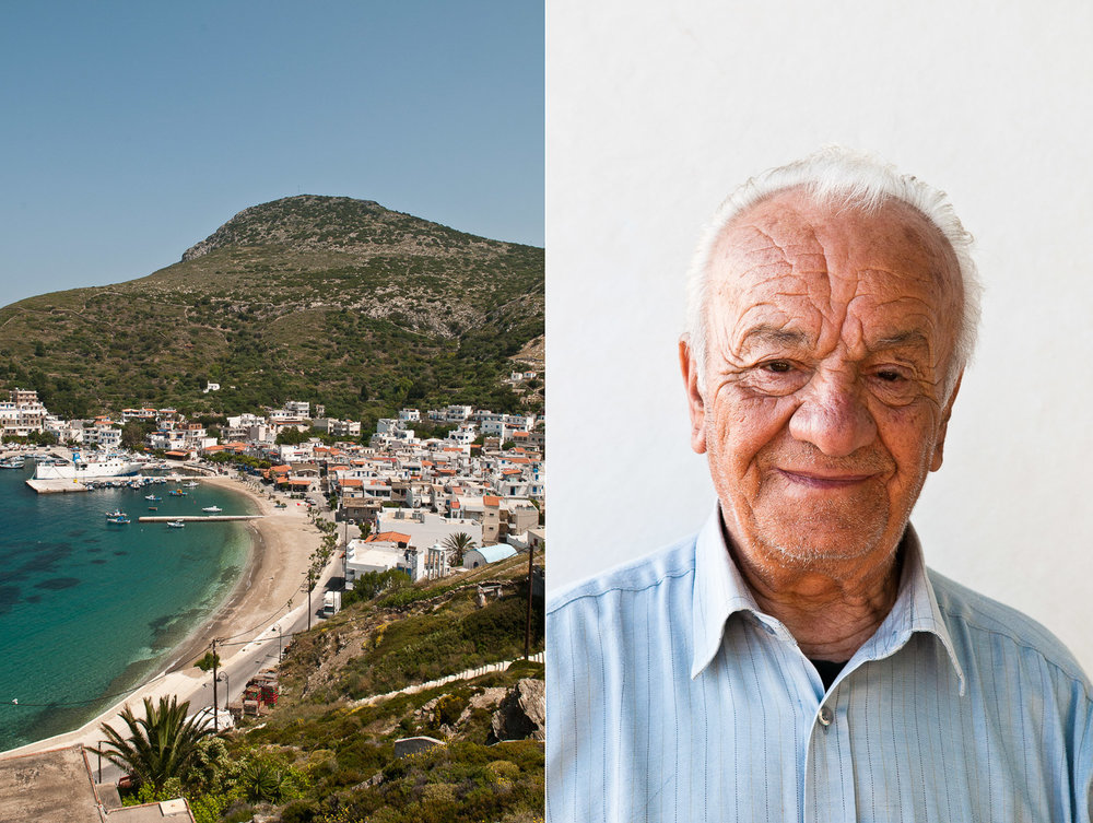Portrait of a Greek man, Fourni Islands, Greece.