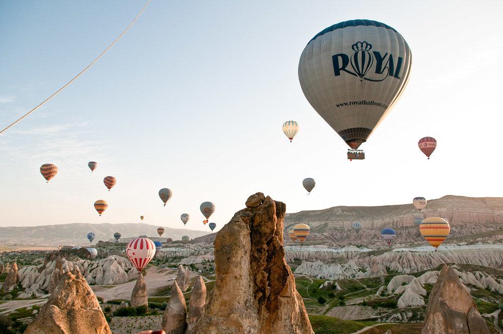 Ballons above Goreme / Cappadocia, Turkey.