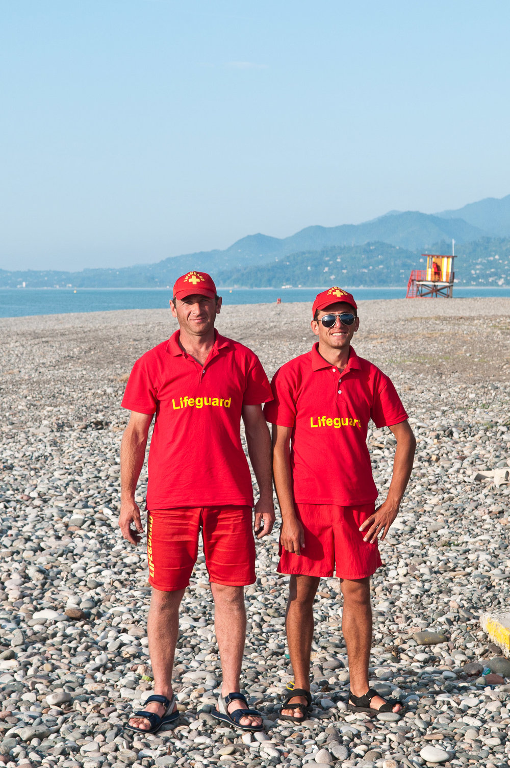 Lifeguard's on the beach at Batumi, Georgia.