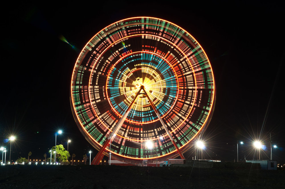 Ferris wheel time lapse, Batumi, Georgia.