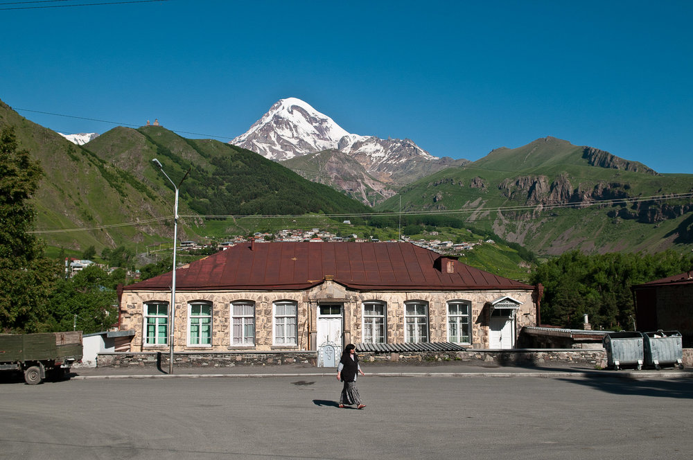 Kazbegi village, Georgia.