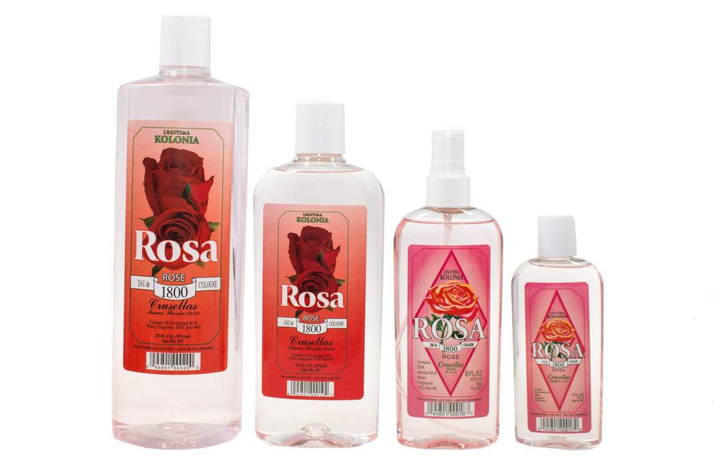 Kolonia 1800 Rosa/ Rose    33oz,16oz, 8oz & 4oz