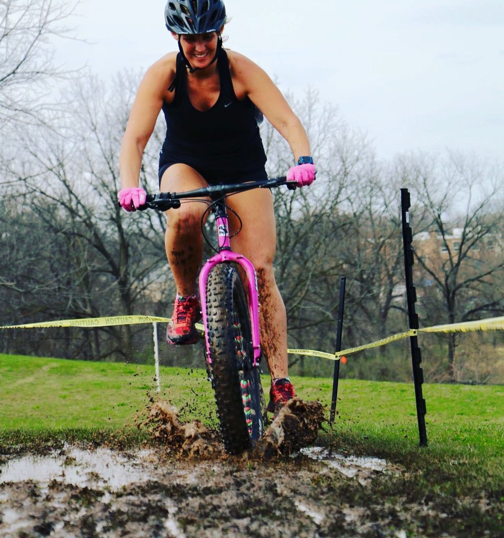 Jana Brady,  Rock River Multisport  Cyclocross at Alpine Hills. Photo courtesy of Jana Brady.