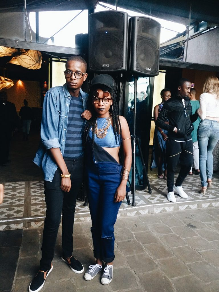 Denim themed party look by Dennis Muriungi and Qoe Qaine