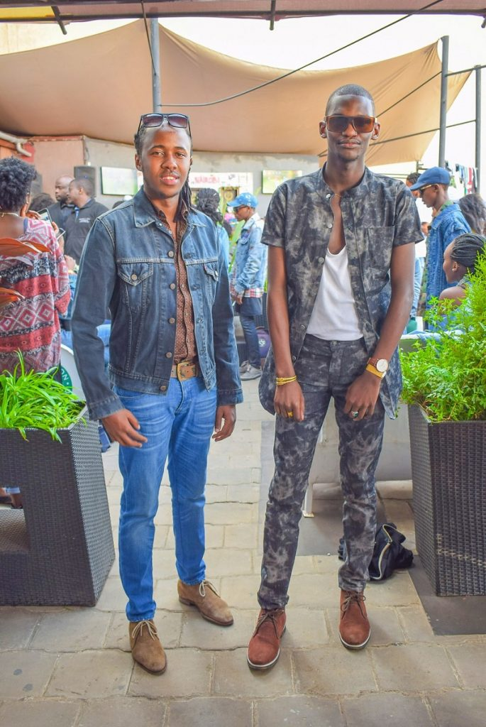 Denim themed party look by Ian Mussilli and Fred Anyona